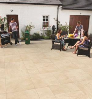Porcelain Paving - Beige Limestone Effect - Single Sizes