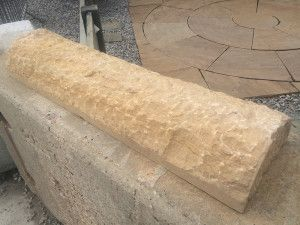 Natural Indian Sandstone - Walling - Hogsback Coping - Teak - 900 x 250mm