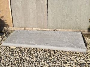 Indian Sandstone Bullnosed Steps - Riven - Kandla Grey - 1000 x 350mm