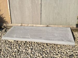 Indian Sandstone - Bullnosed Steps & Corners - Riven - Kandla Grey