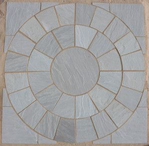 Indian Sandstone Paving - Kandla Grey - Circles