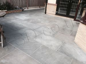 Indian Sandstone Paving - Polished Kandla Grey - 900 x 600mm
