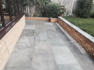 Indian Sandstone Paving - Polished Kandla Grey - Patio Pack