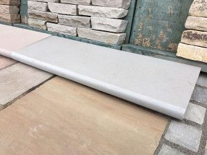 Indian Sandstone Steps - Polished Kandla Grey - Step Tread - 1000 x 350mm