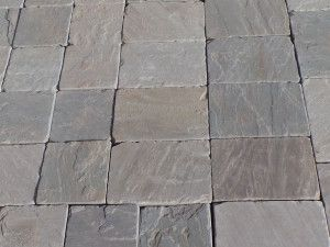 Indian Sandstone Setts - Tumbled Kandla Grey