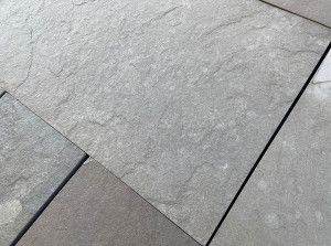 Indian Limestone Paving - Sawn Kurnool Grey - Calibrated - Single Sizes
