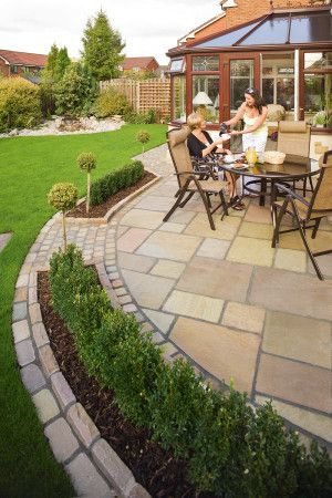 Marshalls - Fairstone Antique Alverno Garden Paving - Golden Sand Multi - Project Pack