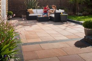 Marshalls - Fairstone Flamed Narias Garden Paving - Autumn Bronze - Project Pack
