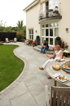Marshalls - Fairstone Riven Harena Garden Paving - Silver Birch Multi - Single Sizes