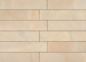 Marshalls - Fairstone Sawn Versuro Linear Garden Paving - Golden Sand - 845 x 140mm