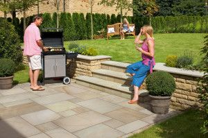 Marshalls - Fairstone Sawn Versuro Garden Paving - Autumn Bronze Multi - Single Sizes