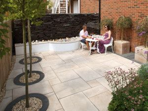 Marshalls - Fairstone Sawn Versuro Garden Paving - Caramel Cream Multi - Single Sizes