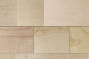 Marshalls - Fairstone Sawn Versuro King Size Garden Paving - Autumn Bronze Multi - Single Sizes