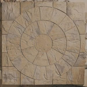 Marshalls - Heritage Paving - Circle - Weathered Yorkstone