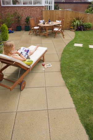 Marshalls - Perfecta Paving - Buff - Pressed Concrete - 450 x 450mm