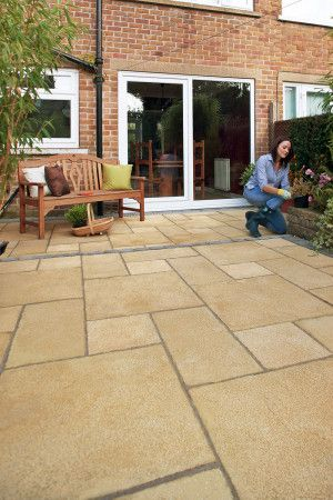 Marshalls - Regent Paving - Buff - Pressed Concrete - Single Sizes