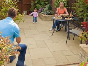 Marshalls - Saxon Paving - Buff - Pressed Concrete - Single Sizes