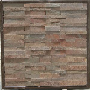 Strata Stones - Meridian Wall Cladding - Split - Copper - 600 x 150 x 10-30mm