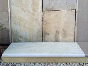 Indian Sandstone - Bullnosed Steps & Corners - Riven - Mint Fossil