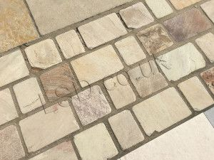 Indian Sandstone Cobbles - Tumbled Mint Fossil - Mixed Project Pack