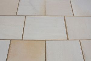 Castacrete - Sawn and Honed - Mint Sandstone - Patio Pack (New Pack And Slab Size)