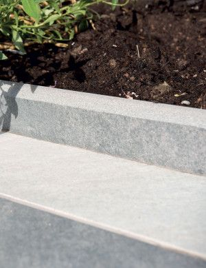 Bradstone - Mode Porcelain Profiled Edging - Silver Grey - 600 x 300mm