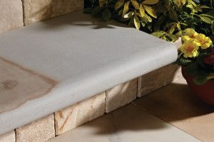 Natural Paving - Bullnose Steps / Coping - Pumice - 600 x 300mm