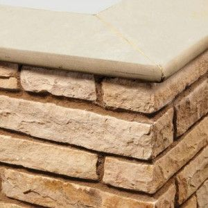 Natural Paving - Bullnose Steps / Copings - Golden Fossil - 600 x 300mm
