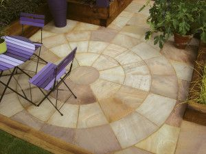 Natural Paving - Classicstone - Heather - Circles