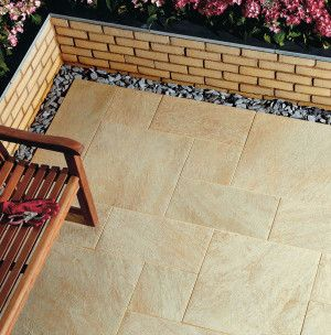 Natural Paving - Di Pietra Porcelain Paving - Oro - Single Sizes