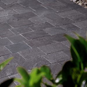Natural Paving - Fossestone - Block Paving - Ebony - 250 x 150mm