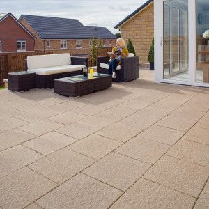 Marshalls Organa Reconstituted Living Paving - Linen - Patio