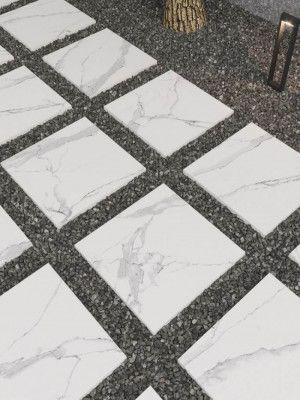 Porcelain Paving Tiles - Kinsale Collection - White Carrara - Single Sizes