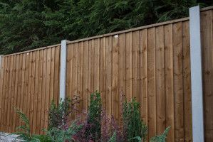 Forest - Featheredge Fence Panel - Pressure Treated - Dark Brown