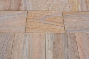 Castacrete - Sawn and Honed - Rainbow Sandstone - Patio Pack (New Pack And Slab Size)