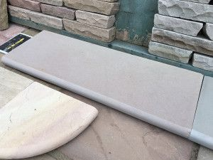 Indian Sandstone Steps - Polished Raj Green - Step Tread - 1000 x 350mm