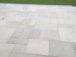 Indian Sandstone Paving - Polished Raj Green - 900 x 600mm
