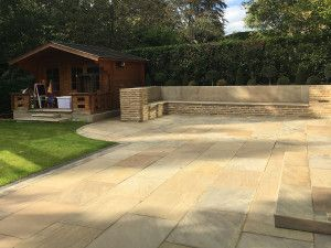 Indian Sandstone Paving - Raj Green - Patio Pack - Calibrated