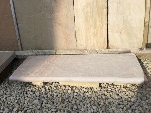 Indian Sandstone Bullnosed Steps - Riven - Rippon Buff - 1000 x 350mm