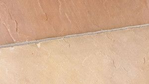 Marshalls Riven Harena Circle Paving - Golden Sand