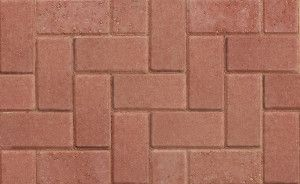 Marshalls - Standard Concrete Driveway Block Paving - Red