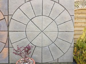 Courtyard Paving - Old Grey - Circle and Squaring Off Kit