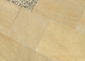 Stonemarket - Namera Limestone Paving - Pyramis Gold - Step Tread