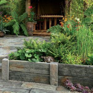Stonemarket - Timberstone - Driftwood - Sleeper Edgings and Posts