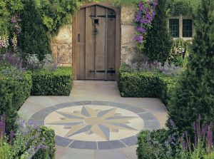 Stonemarket - Vintage Stone Radius Paving - Manor - Compass Points Circle and Corner Infill Kit