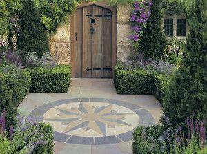 Stonemarket - Vintage Stone Radius Paving - Manor - Compass Points Circle and Corner Infill Kit