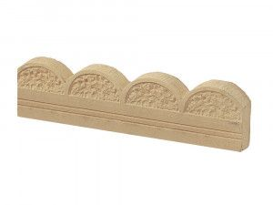 Stonemarket - Yorkstone Scalloped Edging - York Buff - 600 x 150 x 45mm