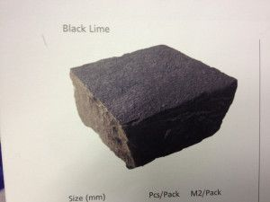 Strata Stones - Limestone Setts - Black Lime - 100 x 100mm