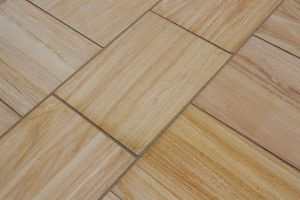 Castacrete - Sawn and Honed - Teakwood Sandstone - Patio Pack