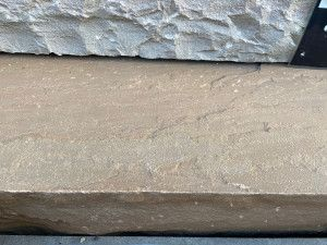 Indian Sandstone Thick Block Steps - Rippon Buff - 1000 x 350mm